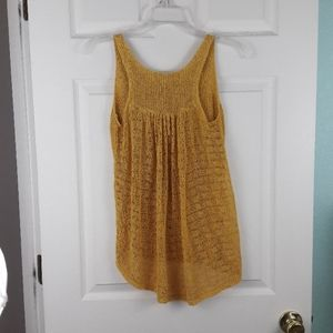 Anthropologie Tops - Anthropologie Sparrow Knit Mustard Tank Top Size S